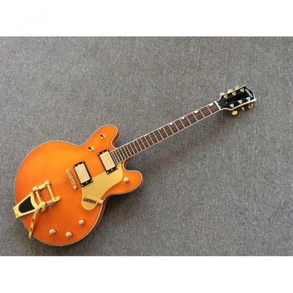 Custom Build Gretsch G6136TBK Orange Falcon Bigsby Guitar #3 image