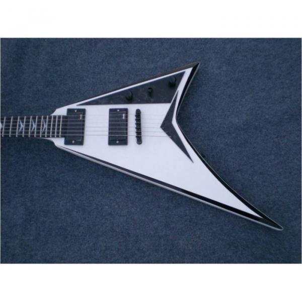 Custom Shop Jackson White Black Electric Guitar #7 image
