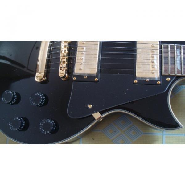 Custom Black ESP Black Beauty Electric Guitar #10 image