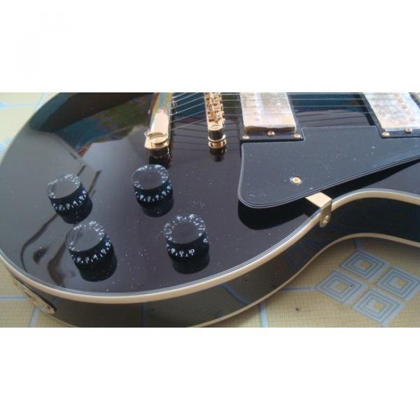 Custom Black ESP Black Beauty Electric Guitar #8 image