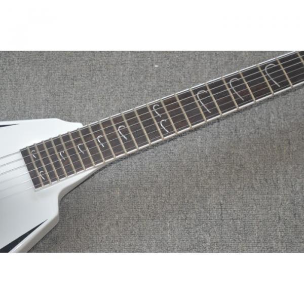 Custom Shop LTD Flying V Alexi Laiho White Electric Guitar #8 image