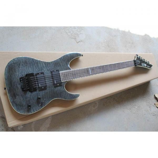 Custom Shop Fire Hawk ESP LTD Gray Electric Guitar #10 image