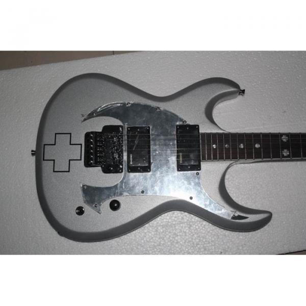 Custom ESP RZK 600 Model Electric Guitar Silver Color #6 image