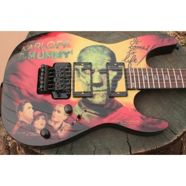 Custom Movie ESP Karloff Mummy Electric Guitar #7 image