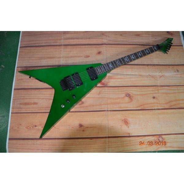 Custom Built Dan Jocobs Flying V ESP LTD Green Guitar #1 image