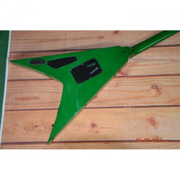 Custom Built Dan Jocobs Flying V ESP LTD Green Guitar #2 image