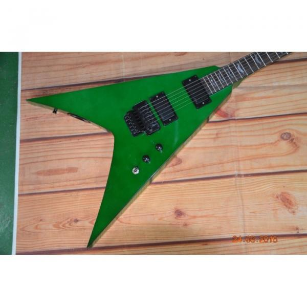 Custom Built Dan Jocobs Flying V ESP LTD Green Guitar #3 image