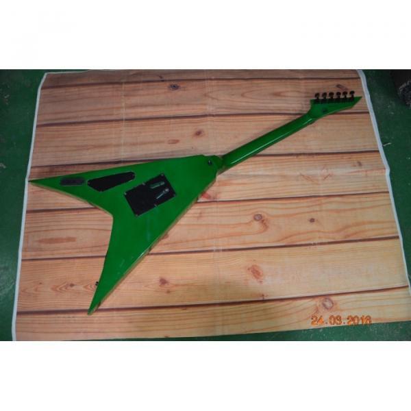 Custom Built Dan Jocobs Flying V ESP LTD Green Guitar #5 image