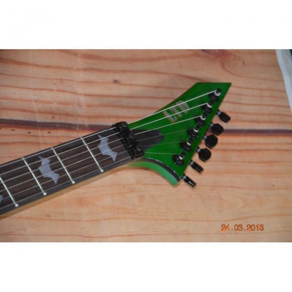Custom Built Dan Jocobs Flying V ESP LTD Green Guitar #9 image