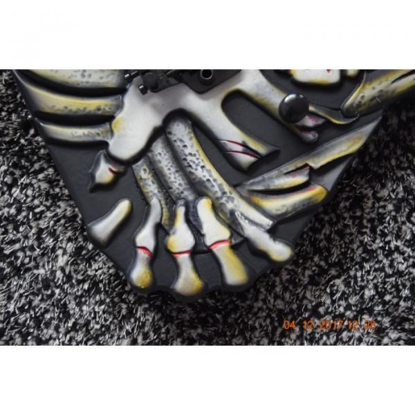 Custom  ESP Black Carved Skull Electric Guitar #6 image