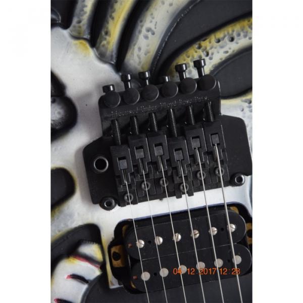 Custom  ESP Black Carved Skull Electric Guitar #7 image