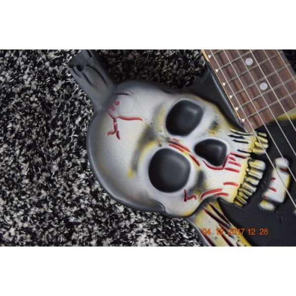 Custom  ESP Black Carved Skull Electric Guitar #8 image