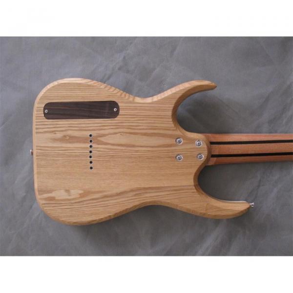Custom Shop 7 String Natural Birds Eye Electric Guitar  Black Machine #7 image