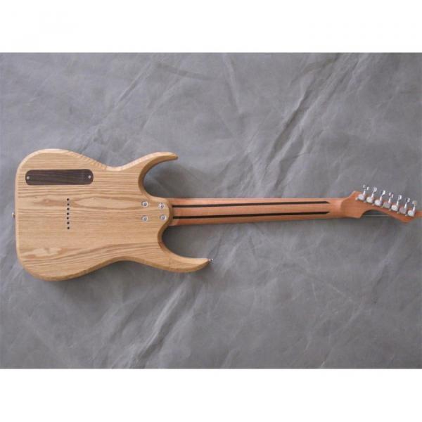 Custom Shop 7 String Natural Birds Eye Electric Guitar  Black Machine #9 image