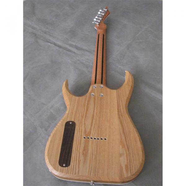 Custom Shop 7 String Natural Birds Eye Electric Guitar  Black Machine #10 image