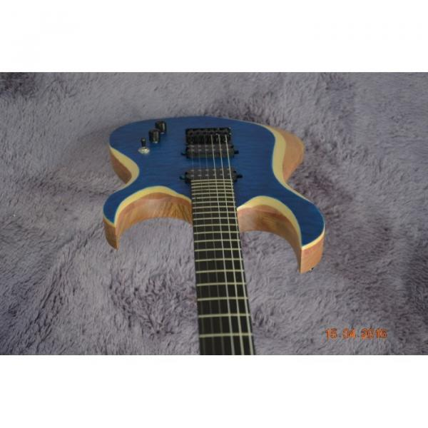 Custom Shop Black Machine 6 String Quilted Blue Maple Top Electric Guitar #8 image