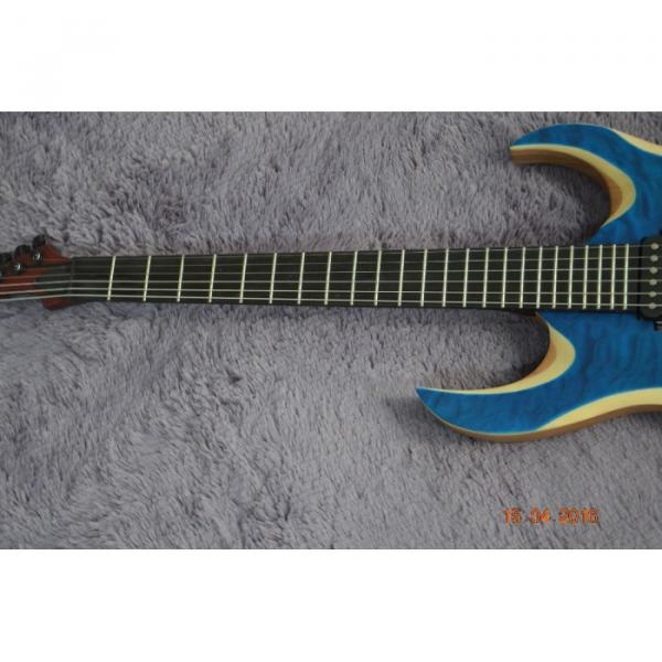 Custom Shop Black Machine 6 String Quilted Blue Maple Top Electric Guitar #12 image