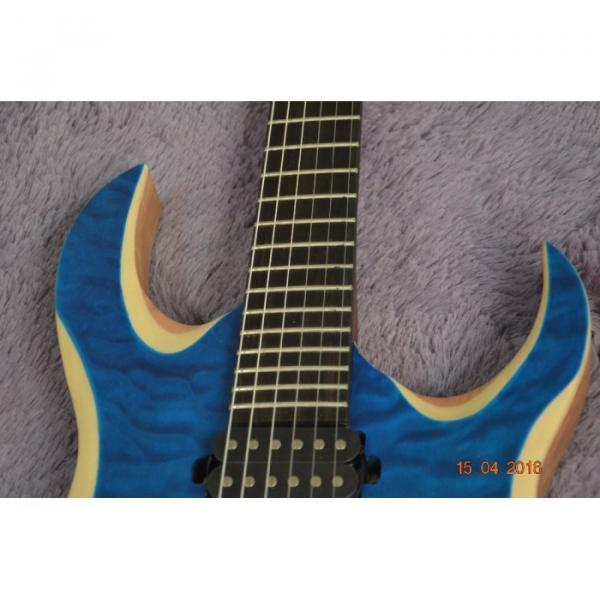 Custom Shop Black Machine 6 String Quilted Blue Maple Top Electric Guitar #13 image