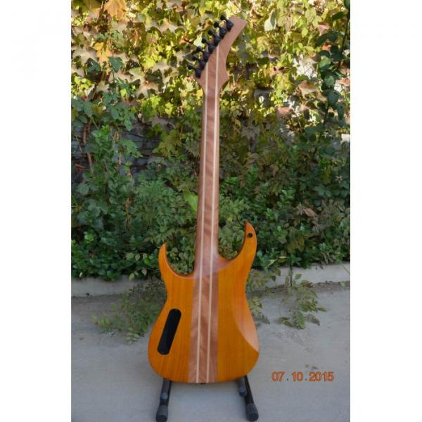 Custom Shop 7 String Honey Amber Finish Electric Guitar Black Machine #7 image