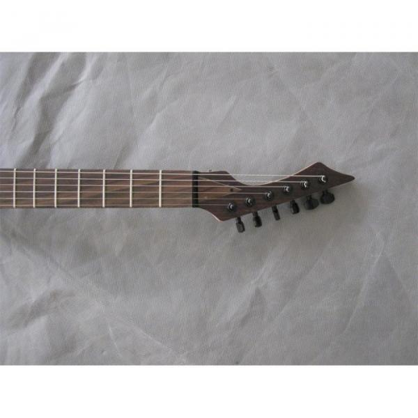 Custom Shop Black Machine 6 String Natural Wood Electric Guitar #7 image