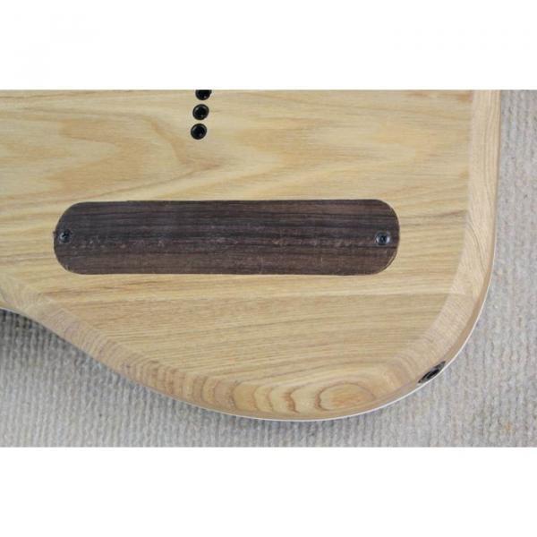Custom Shop 7 String Black Electric Guitar  Black Machine #6 image