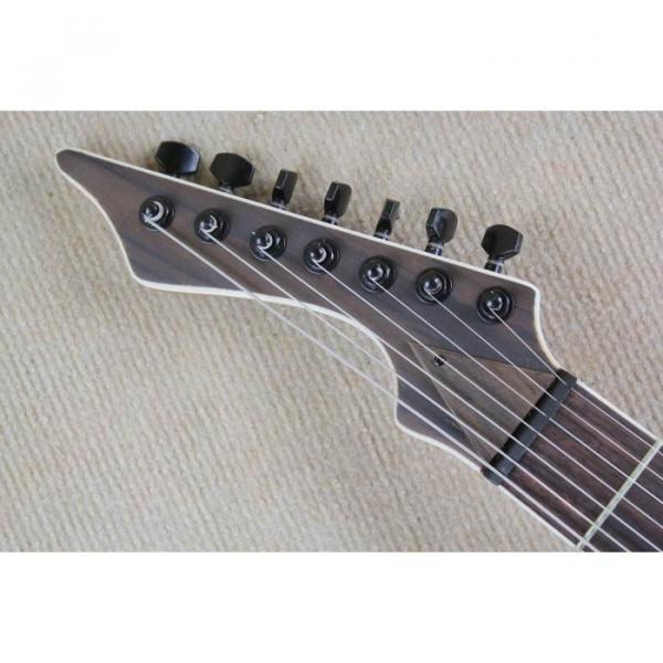 Custom Shop 7 String Black Electric Guitar  Black Machine #8 image