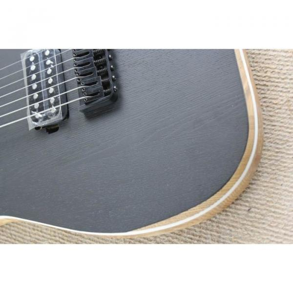 Custom Shop 7 String Black Electric Guitar  Black Machine #12 image
