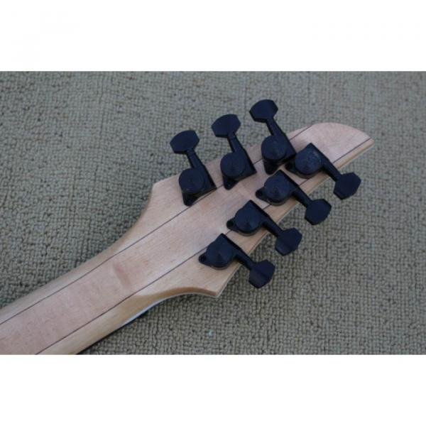 Custom Shop 7 String Birdseye  Natural Electric Guitar Black Machine #6 image
