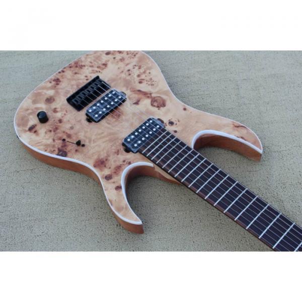 Custom Shop 7 String Birdseye  Natural Electric Guitar Black Machine #8 image