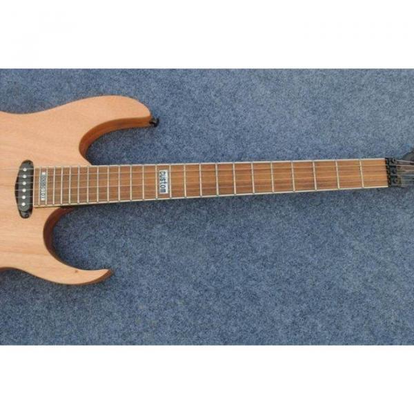 Custom Shop Black Machine 6 String Natural Black Wood Electric Guitar #6 image