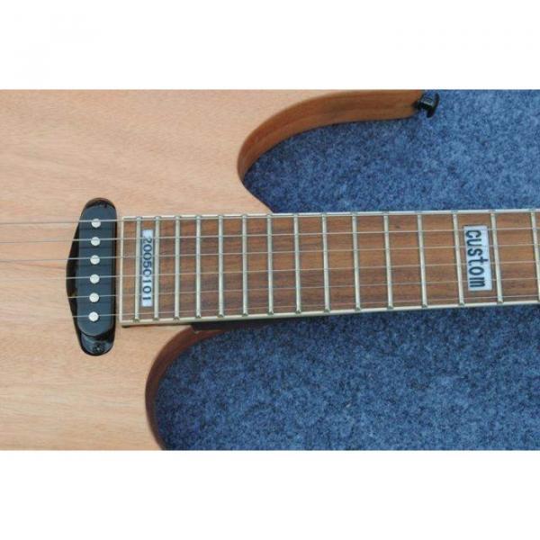 Custom Shop Black Machine 6 String Natural Black Wood Electric Guitar #8 image