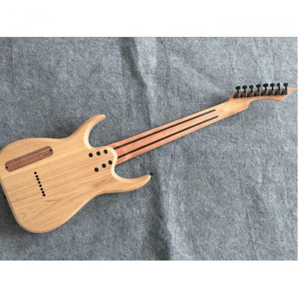 Custom Measurements Black Machine 8 String Natural Wood Black Electric Guitar #7 image