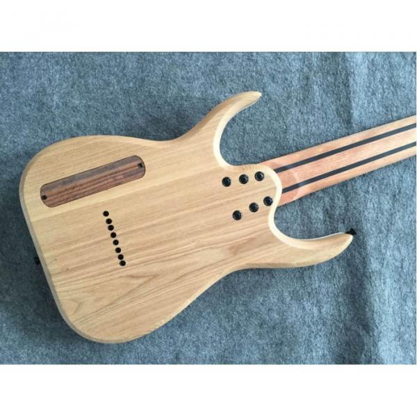 Custom Measurements Black Machine 8 String Natural Wood Black Electric Guitar #8 image