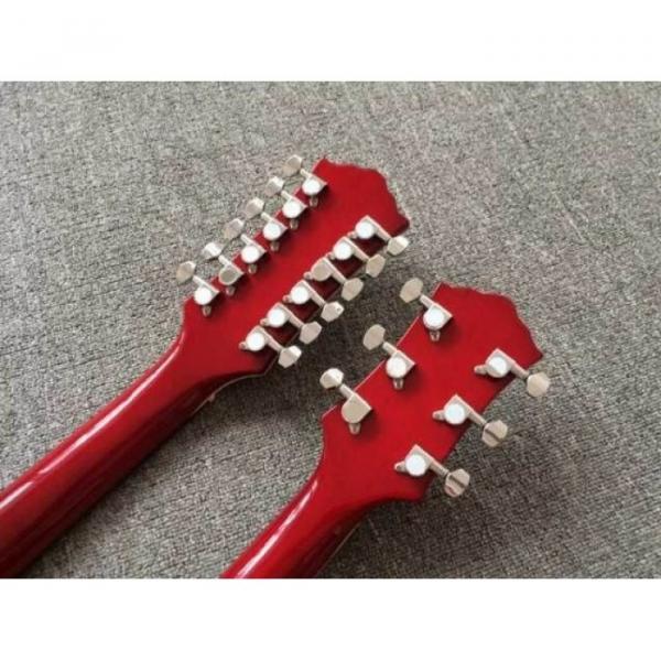Custom Telecaster 6 String 12 String Electric Guitar Double Neck Sunburst Left Handed #6 image