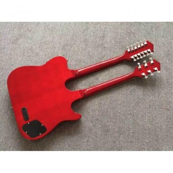 Custom Telecaster 6 String 12 String Electric Guitar Double Neck Sunburst Left Handed #7 image