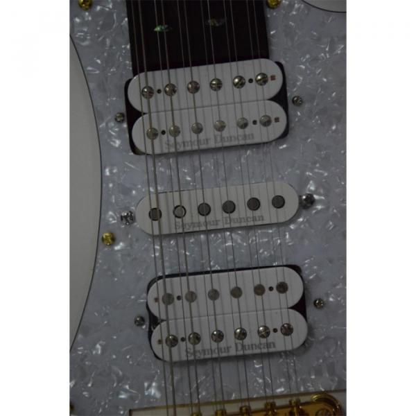 Custom JEM7V White Double Neck 6/12 Strings Guitar #12 image
