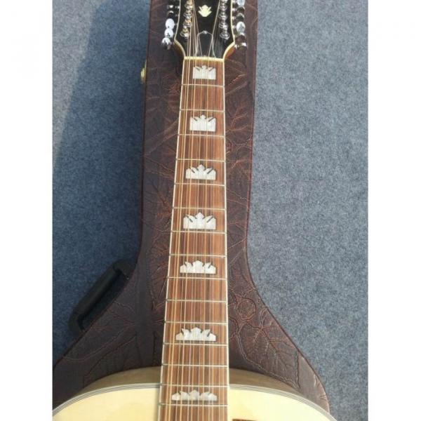 Custom J200 12 Strings Natural Acoustic Guitar #6 image