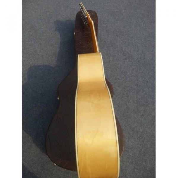Custom J200 12 Strings Natural Acoustic Guitar #8 image