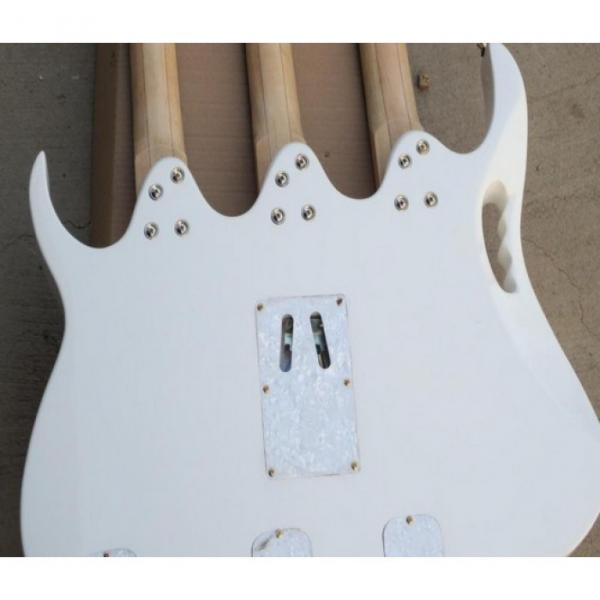Custom Ibanez White JEM 7V Triple Neck 6/6/12 Strings Guitar #6 image