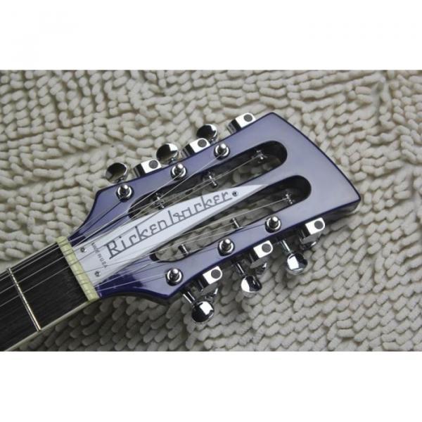 Custom Flame Maple Top  12 Strings 330 Blue White Guitar #7 image