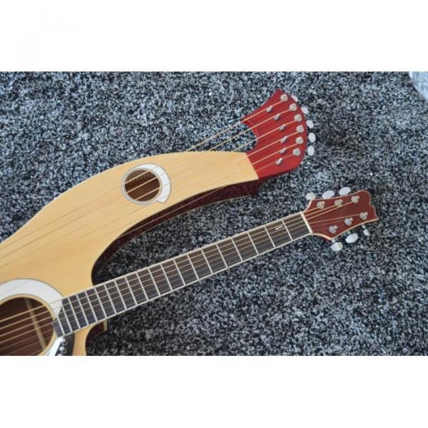 Custom Shop 6 6 8 String Acoustic Electric Double Neck Harp Guitar #7 image