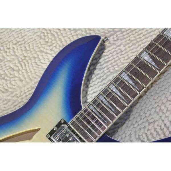 Custom Flame Maple Top  12 Strings 330 Blue White Guitar #9 image