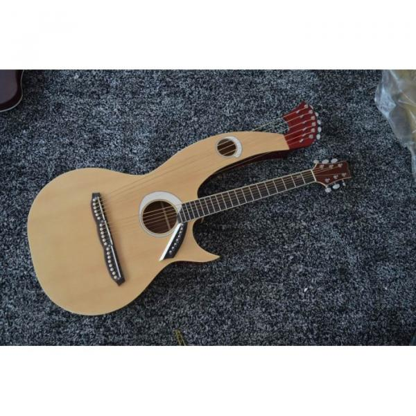 Custom Shop 6 6 8 String Acoustic Electric Double Neck Harp Guitar #8 image