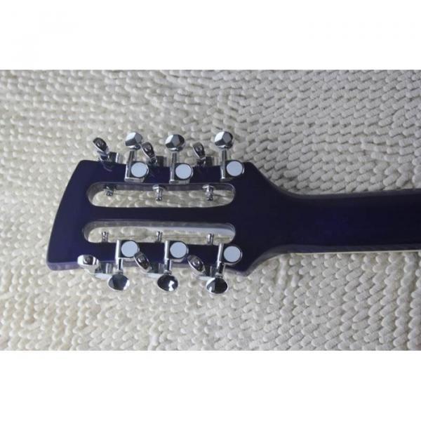 Custom Flame Maple Top  12 Strings 330 Blue White Guitar #10 image