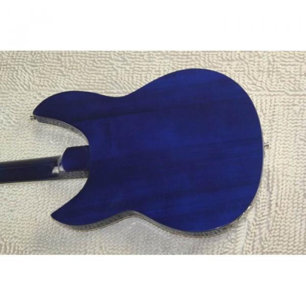 Custom Flame Maple Top  12 Strings 330 Blue White Guitar #11 image