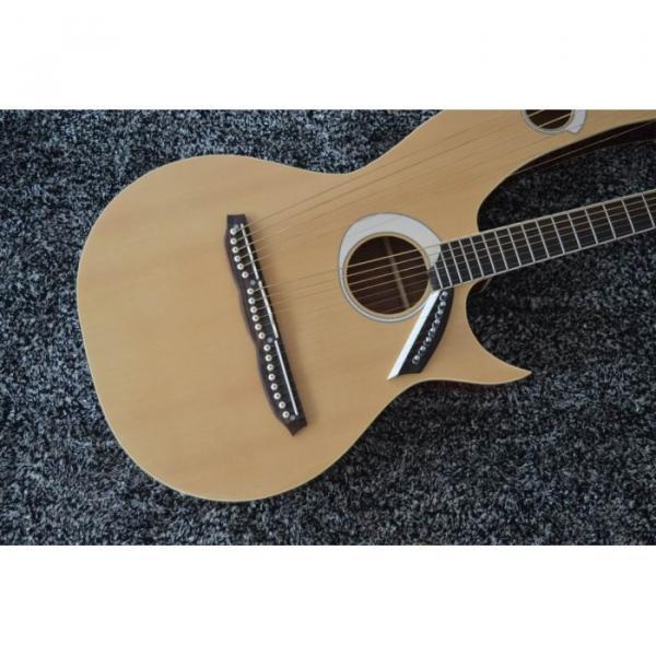Custom Shop 6 6 8 String Acoustic Electric Double Neck Harp Guitar #9 image