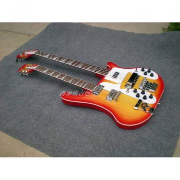 Custom 4003 Double Neck Fireglo 4 String Bass 12 String Guitar #7 image