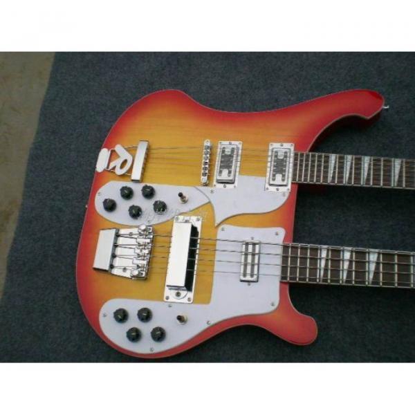 Custom 4003 Double Neck Fireglo 4 String Bass 12 String Guitar #10 image
