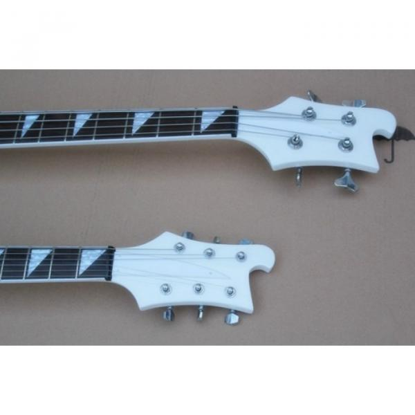 Custom Built 4080 Double Neck Geddy Lee White 4 String Bass 6/12 String Guitar #6 image