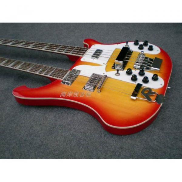 Custom 4003 Double Neck Fireglo 4 String Bass 12 String Guitar #12 image